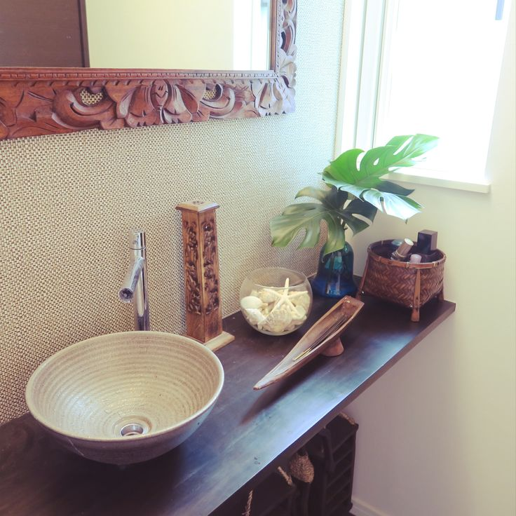 南国/ヒトデ/バリ&ハワイアンMIXが好き。/手洗い場/手洗いスペース/切り花…などのインテリア実例 - 2016-03-12 22:54:30 | RoomClip(ルームクリップ)