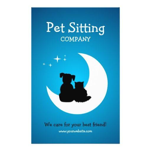 pet care pet sitting business flyer