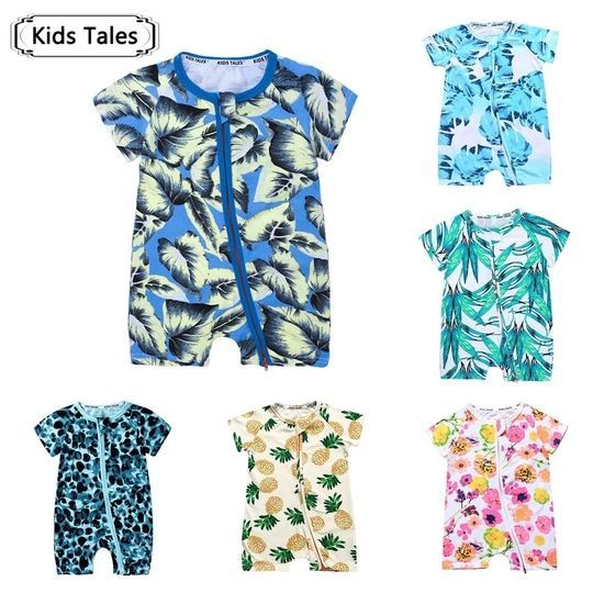 2018 Newborn Romper Baby Clothes Summer Baby Jumpsuit with Short Sleeves – …  – Babyoverall Modelle