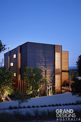 The Clovelly House as featured on Grand Designs Australia; a very contemporary and tactile home