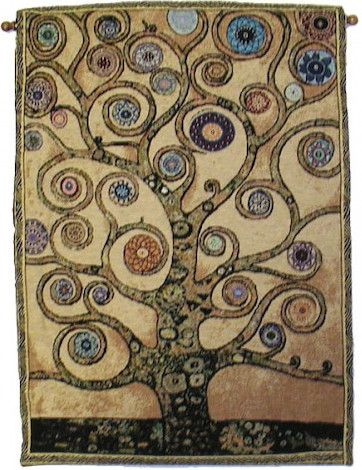 Orange - Mandala Tree Of Life - Rod Tapestry