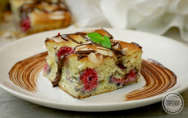 Proste ciasto z malinami - przepis - Tapenda.pl