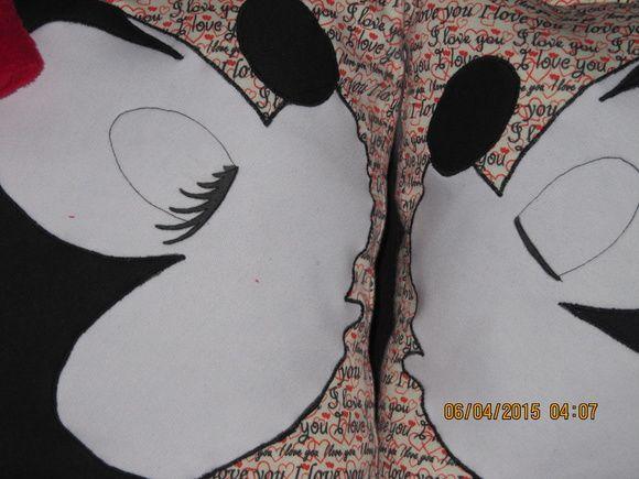 conjunto de almofadas - namorados - em moletom