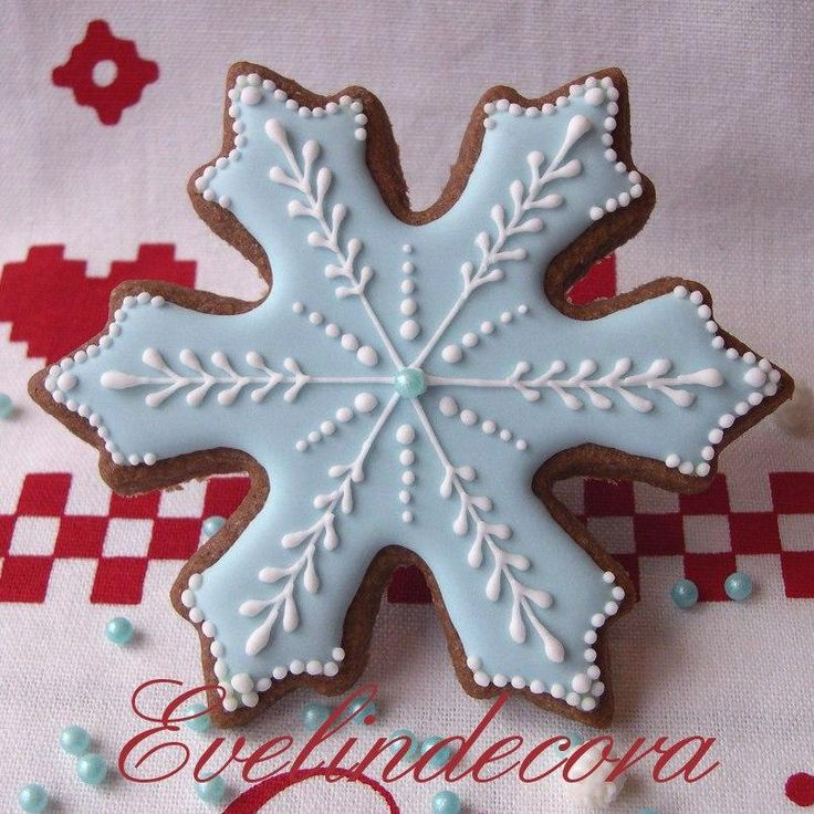 Beautiful snowflake cookie (Cookie Connection).