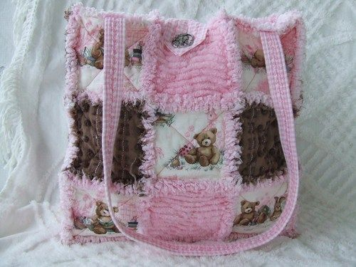 Rag Bag Purse Instructions   lupus awareness purse shabby roses and denim and roses rag purse ...