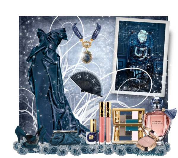 """""""The Colors: Prussian Blue"""" by fiordiluna on Polyvore"""