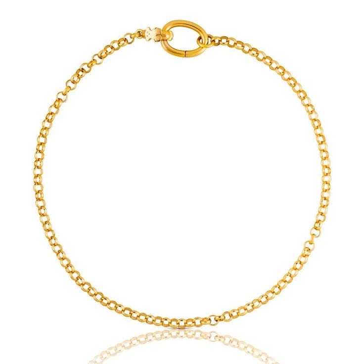 Łańcuszek Tous ze złota vermeil o długości 42 cm