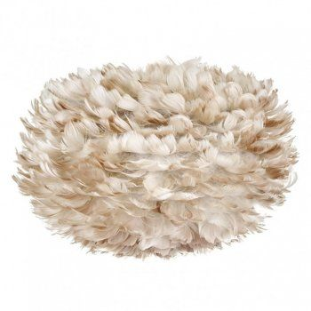 Vita Eos Feathers Medium Ceiling Light Shade Light Brown Lamp Shade