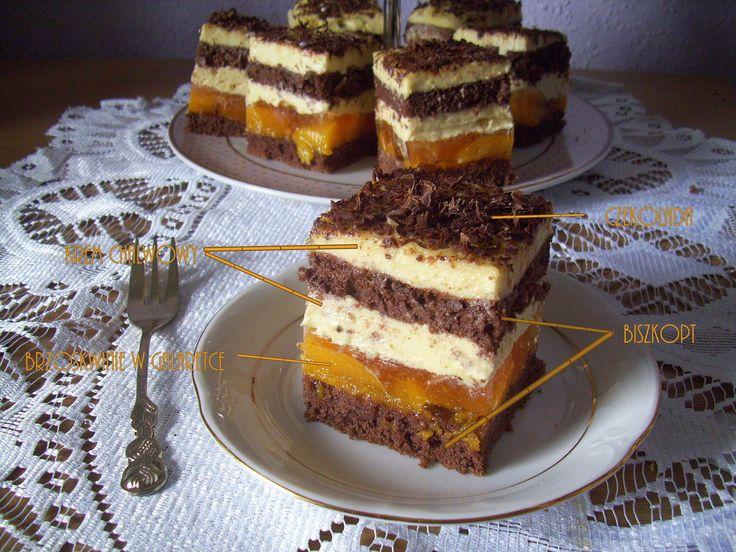 Ciasto chałwowe z brzoskwiniami PRZEPIS