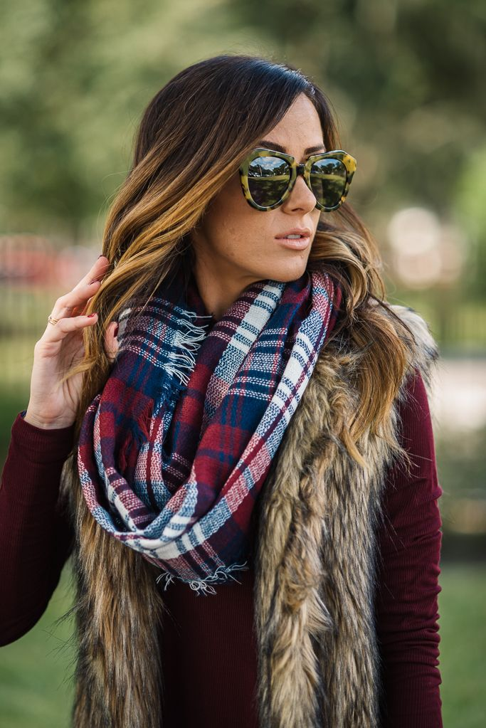 Sequins and Things: SWING TURTLENECK + PLAID SCARF