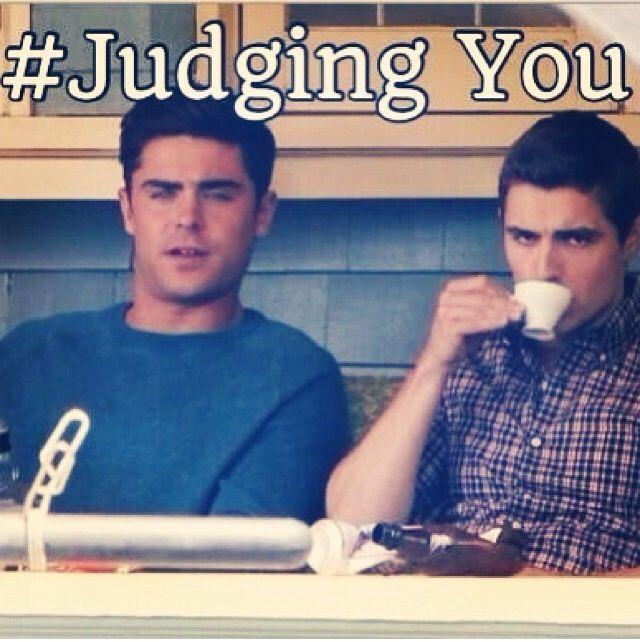 #judgingyou hahaha Zac Efron & Dave Franco