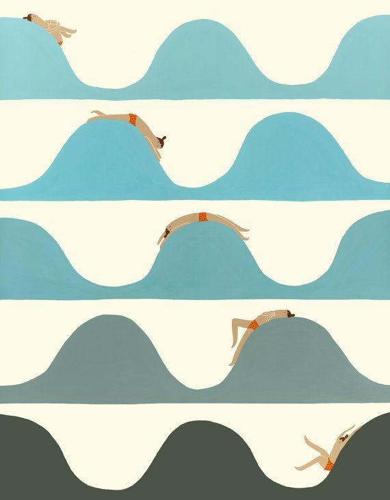 Art+Print++Flow+van+laurageorge+op+Etsy
