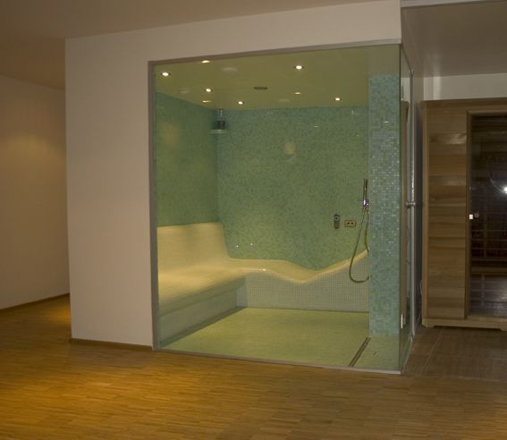Steam Room A Combination With A Lounger And A Bench Steam Shower With Master Bathroombathroom Vanitiesbathroom Ideassteam