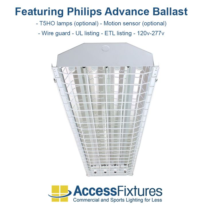 heno 4lamp caged t5 fluorescent high bay with advance ballast availalbe at access fixtures