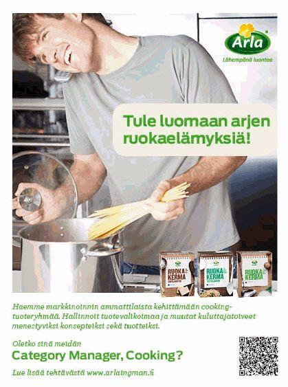 QR-koodi toimi myös rekrytoinneissa. Vähemmän tekstiä ja enemmän fiilistä. Ilmoitus Helsingin Sanomissa maaliskuussa 2012.