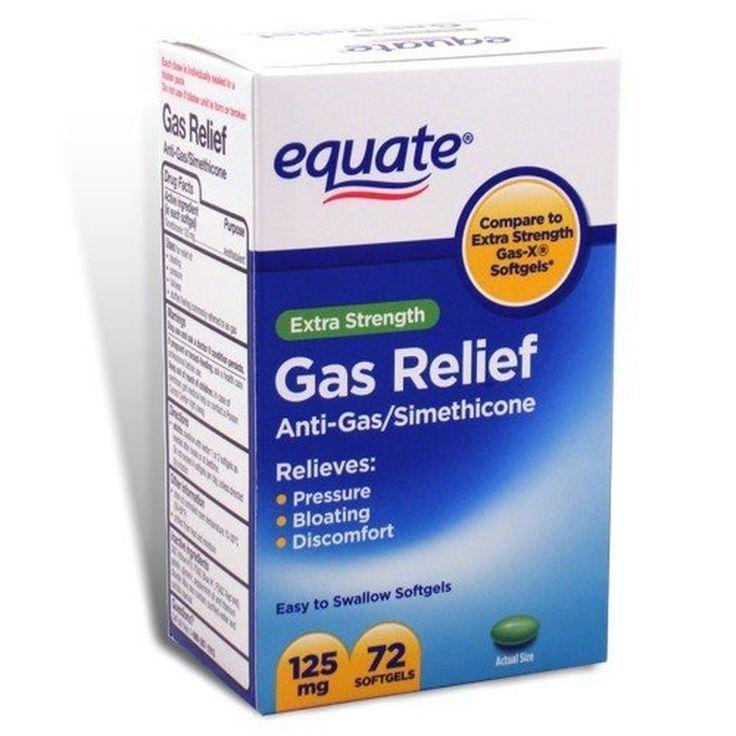 Equate - Gas Relief, Extra Strength, Simethicone 125 mg, 72 Softgels, Compare...   #Equate #GasRelief #Softgels #BloatingRelief #AntiGas #Simethicone#OverTheCounterMedicine #HealthCare