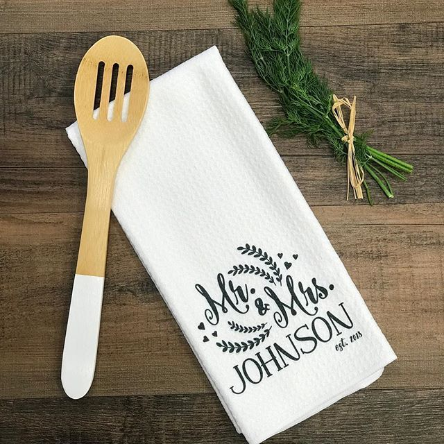 Custom Kitchen Towel Mr And Mrs Kitchen Towel Personalized
