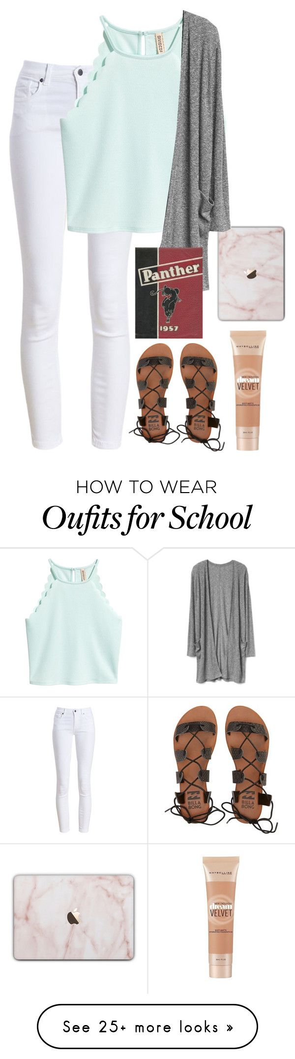 """Last day of School!!"" by kindaval on Polyvore featuring Barbour, Billabong and Maybelline"