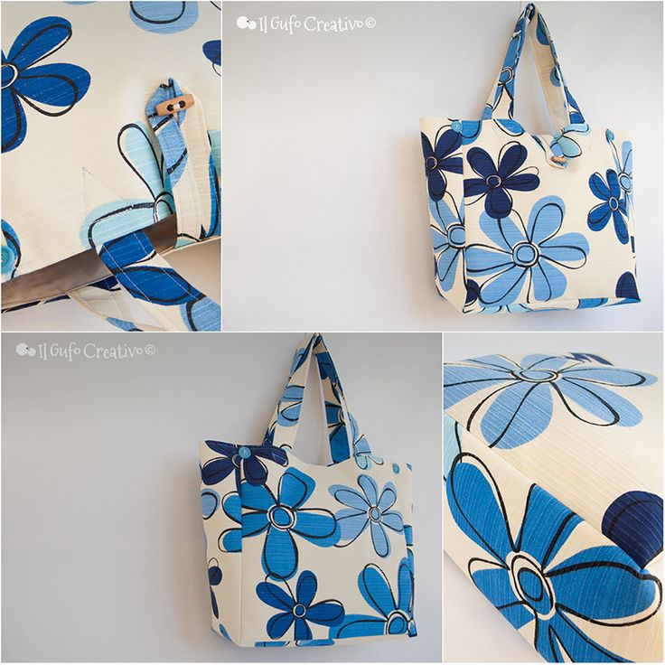 Blue flower multi bag - Il Gufo Creativo