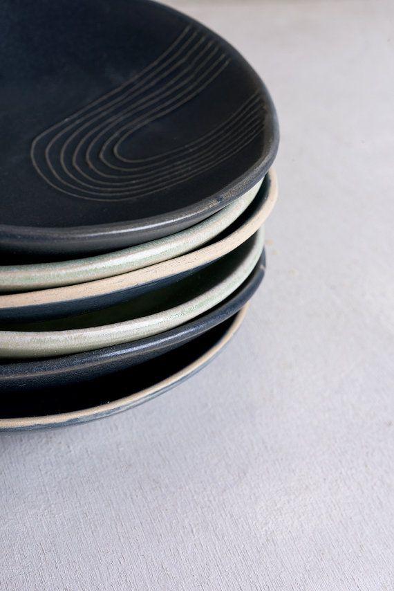 Luce menta serve ciotole, piccole ciotole in ceramica, ceramica Serving Tray, piatto di antipasti, colazione ciotola, ciotola di Pasta, piatto di