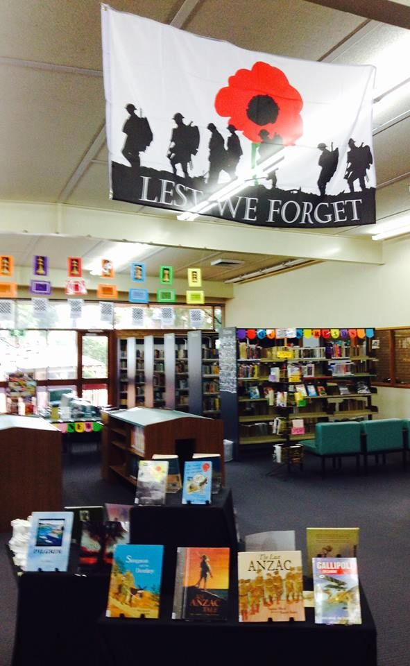 ANZAC DAY 2015 BOOK DISPLAY: Commemorating 100 years since the Gallipoli landing in ANZAC Cove, April 25th 1915.