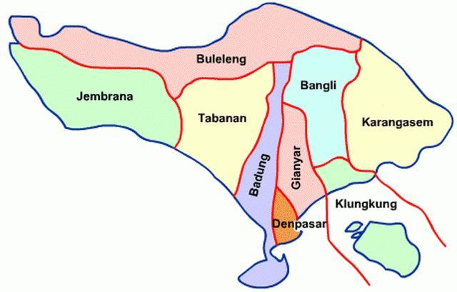 Подскажите, где узнать почтовые индексы различных районов Бали.