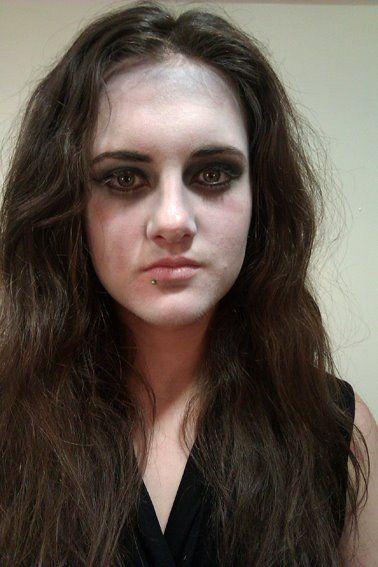 Siobhan's final makeup as Tamora