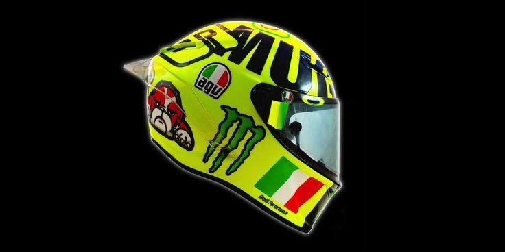 El casco AGV que luce Valentino Rossi en el GP de Italia de MotoGP 2016 supone un homenaje a la marea amarilla que puebla las gradas.