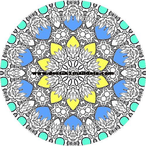 mandala a colorier numero 29 #mandala #coloriage #adulte via dessin2mandala.com