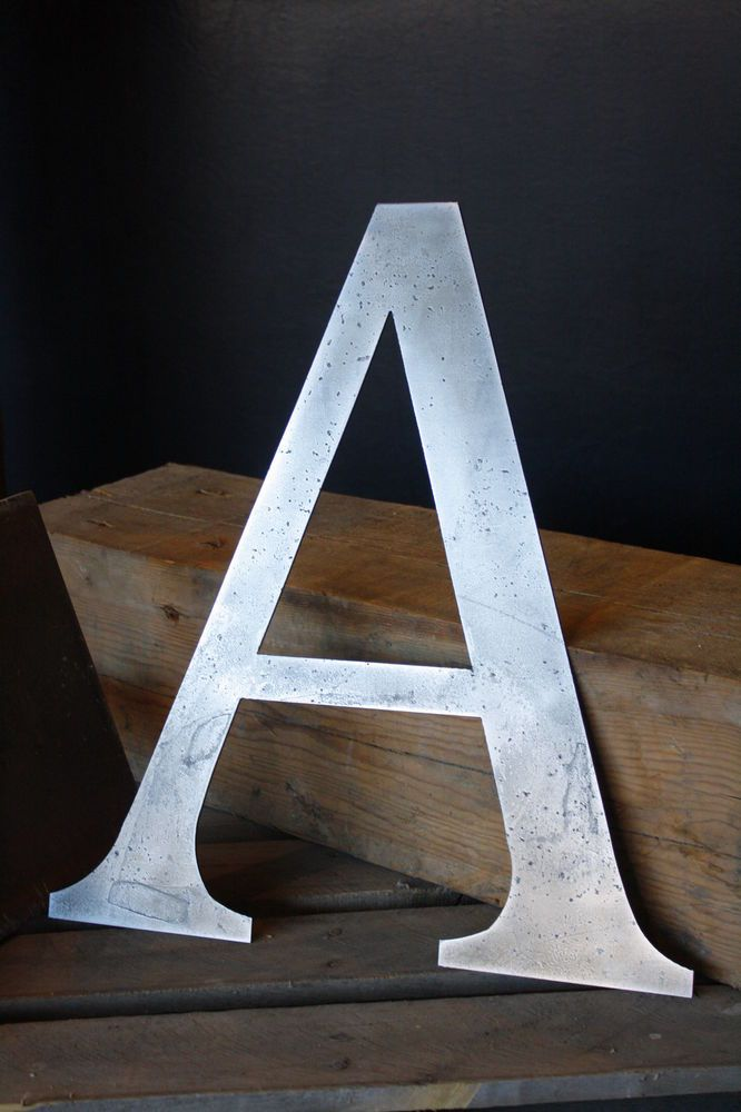 Wall Art Metal Letters : Ideas about industrial wall art on