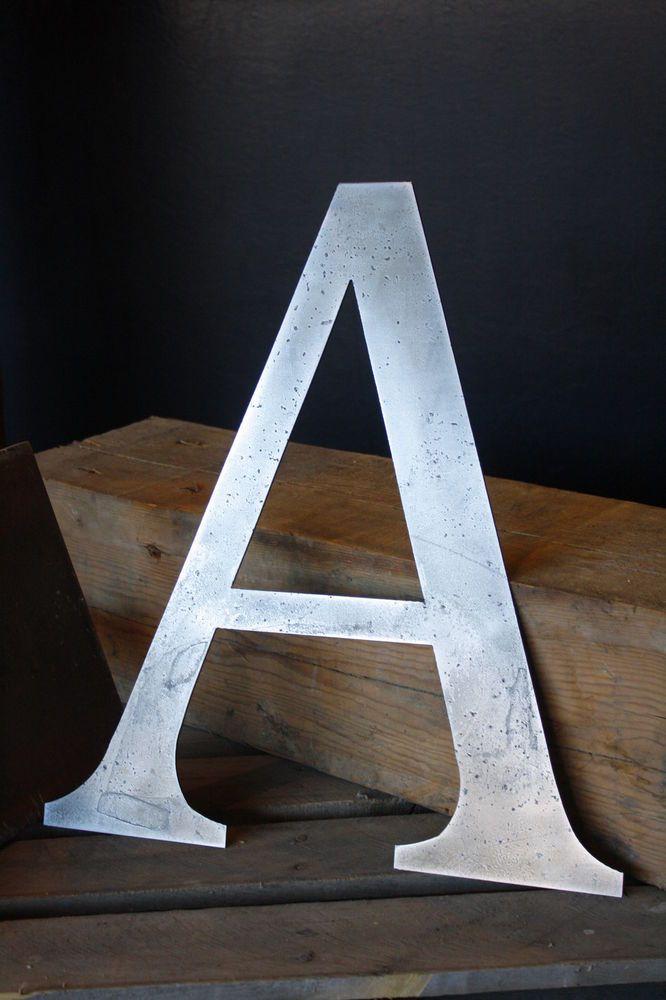 18 Metal Letter A Modern Industrial Wall Art Cnc Plasma Cut Steel Home