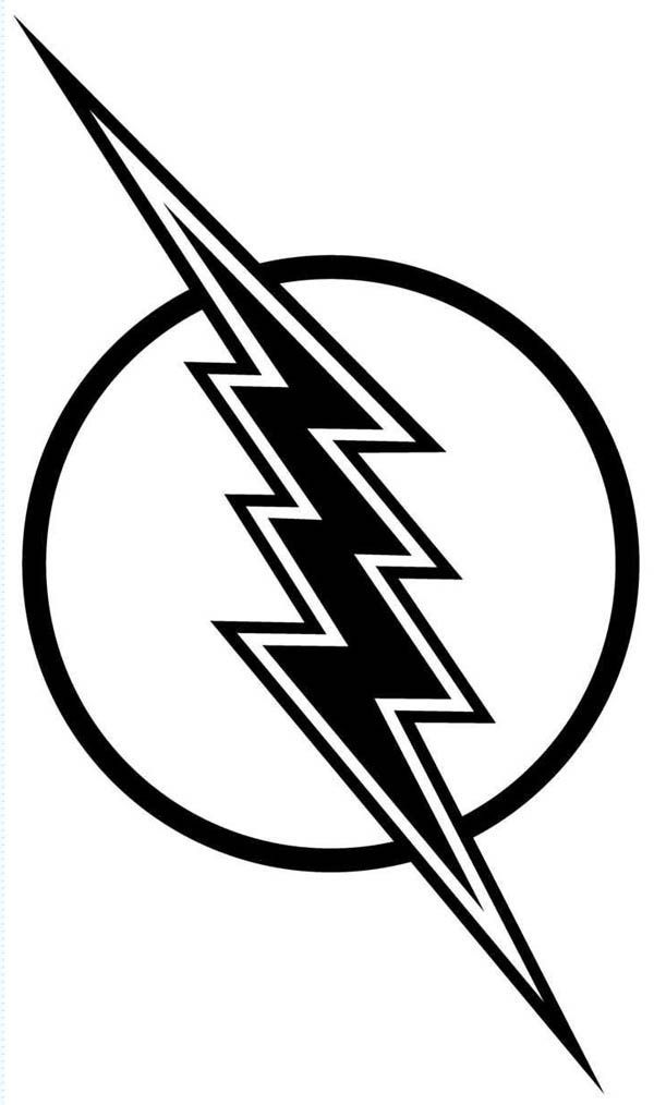 The Flash Symbol Coloring Pages Flash Logo Coloring Pages Superhero Coloring Pages