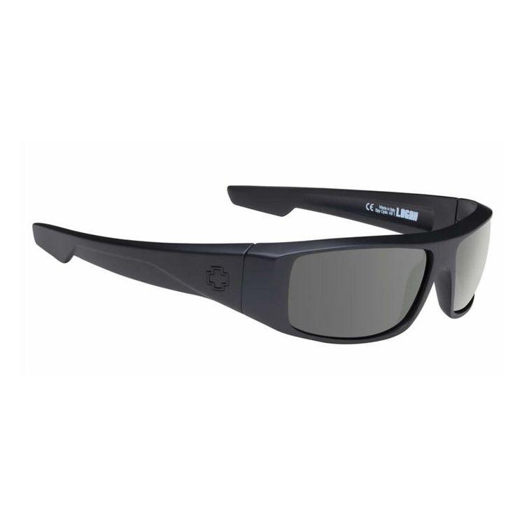 Spy Sunglasses Logan Soft Matte Black Happy Grey Green Polar