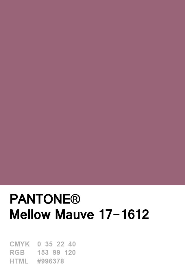 Pantone Mellow Mauve 17-1612 Colour of The Day 25 January