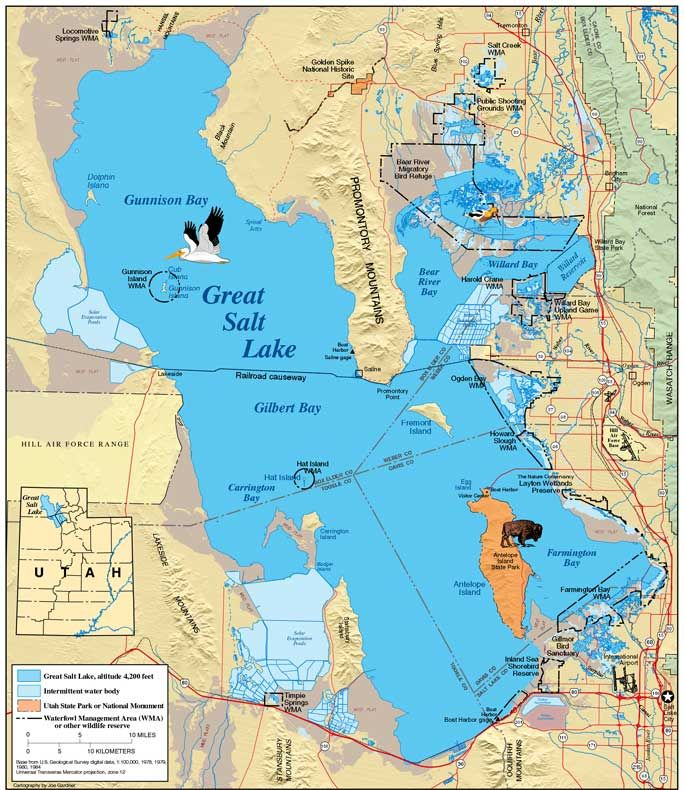 The Great Salt Lake Located In Northern Part Of U State Utah Is Largest Water Western Hemisphere And
