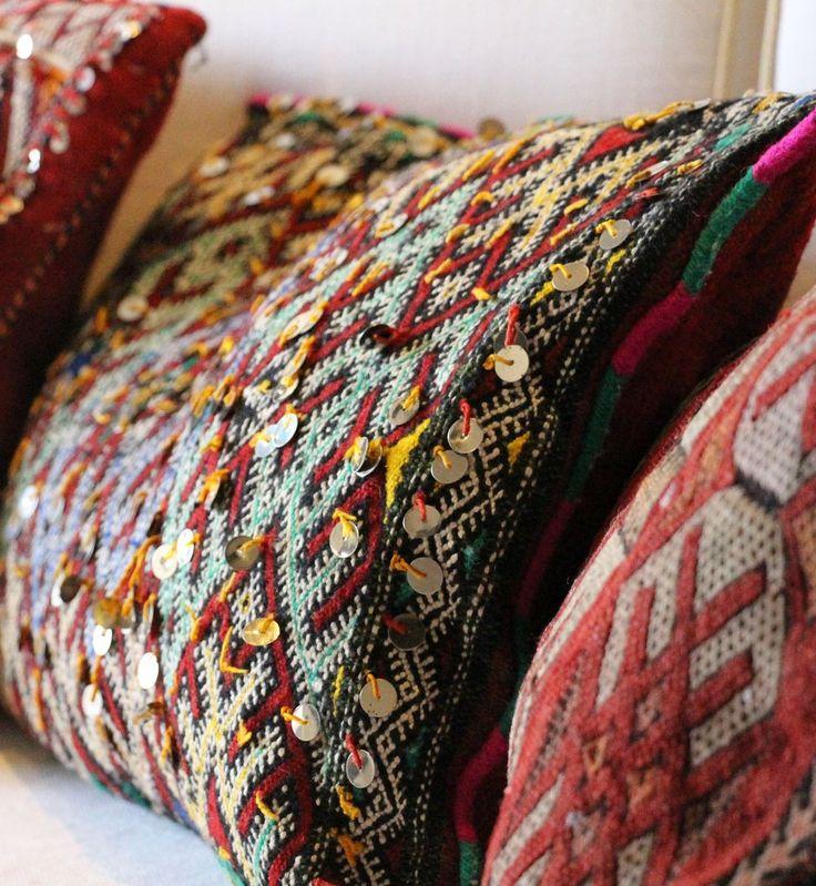 Amal Cushion ~ Diamond   Red