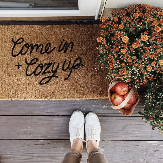 cozy welcome mat//