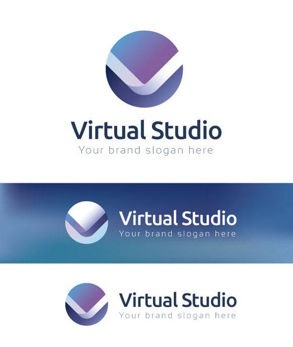 Virtual Studio Logo Template by Premiem Design Resources on @creativemarket