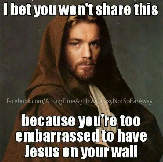 I only posted this here because I think it's funny how anyone could be embarrassed by God?!