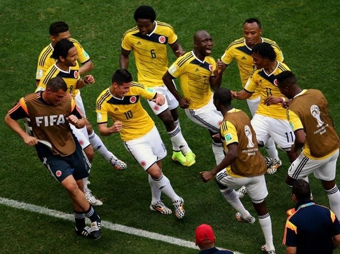 Colombia when they score...