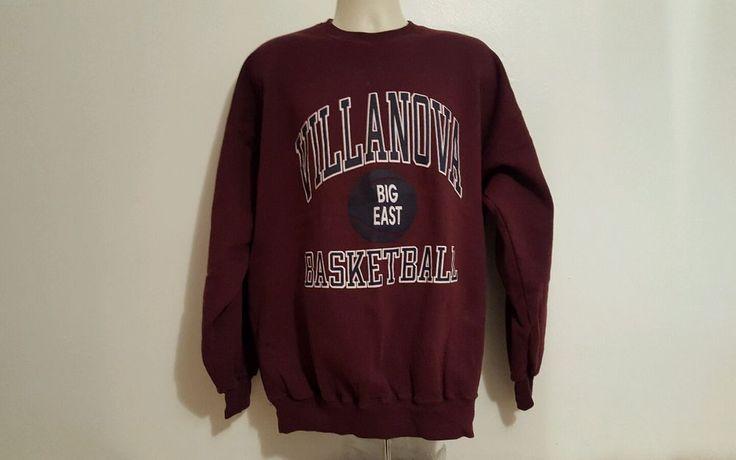 Champion Vintage Villanova Big East Basketball Adult XXL Burgundy Jersey #Champion #VillanovaWildcats