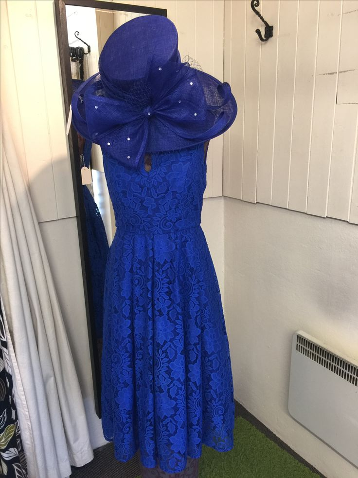 Blue wedding outfit