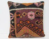 20x20 lakehouse kilim pillow chair pillow case floor pillow colourful cushion case victorian decor retro home decor turkish rug pillow 26218