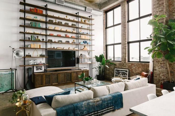 Loft moderno e industrial en Brooklyn