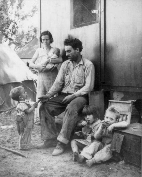 1935 Great Depression farmer in Marysville, CA
