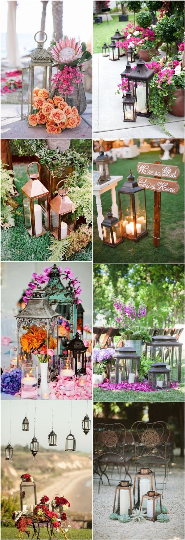 rustic outdoor wedding ideas- country lantern wedding decors