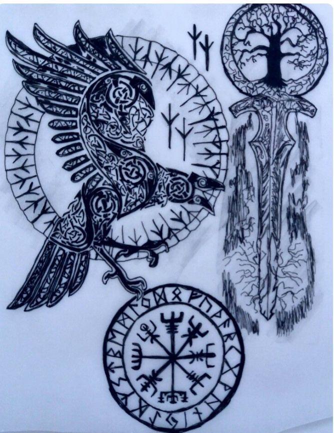 Mythologie tattoo nordische Tattoo