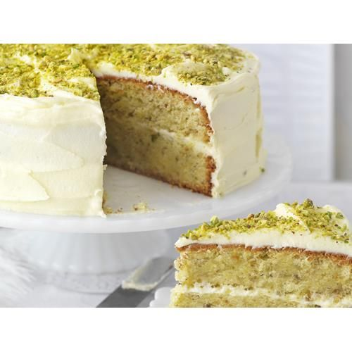 Pistachio and rosewater layer cake recipe - By Australian Women's Weekly