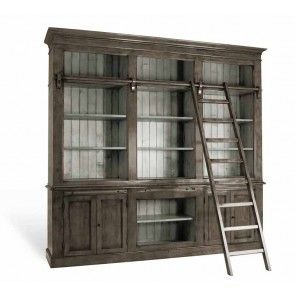 Bücherregal in Grau Holz massiv