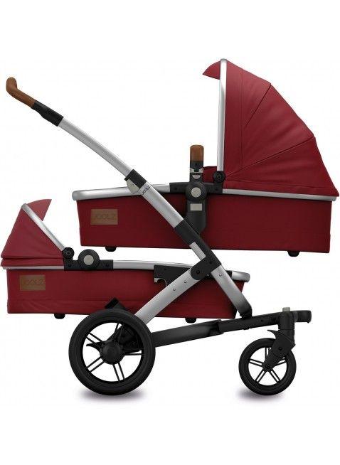 Kinderwagen für Zwillinge: Joolz Geo Earth Lobster Red Twin Zwillingskinderwagen Set S. Mehr Infos auf https://www.kleinefabriek.com/.